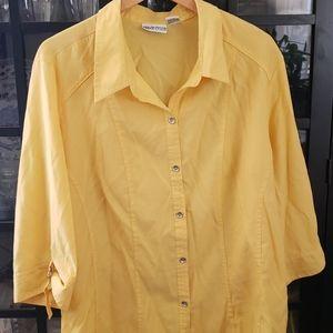 Botton Front Yellow Shirt